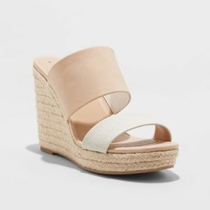 Dolce Vita Adelina Two-Band Espadrille Wedge Pumps